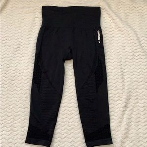 GYMSHARK SEAMLESS ENERGY BLACK M